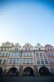 Buildings at Jelenia Gora main square Stock Photography