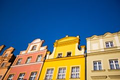 Buildings at Jelenia Gora main square Royalty Free Stock Photography