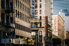 Buildings in the Jewelry District, in downtown Los Angeles, Cali Stock Images