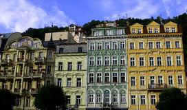 Buildings in Karlovy Vary Royalty Free Stock Photo
