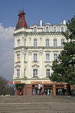 Buildings in Karlovy Vary or Carlsbad that is a spa town situated in western Bohemia, Czech Republic Royalty Free Stock Images