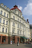 Buildings in Karlovy Vary or Carlsbad that is a spa town situated in western Bohemia, Czech Republic Stock Photography