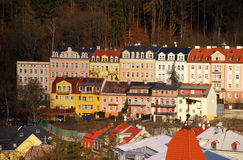 Buildings in Karlovy Vary, Czech Republic Royalty Free Stock Photography