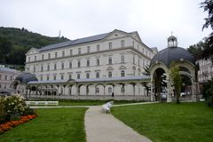 Buildings of Karlovy Vary Royalty Free Stock Photo