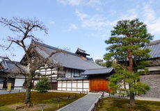 Buildings at Kinkaku temple in Kyoto, Japan Royalty Free Stock Photography