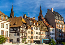Buildings on Kleber Square in Strasbourg, France Royalty Free Stock Photography