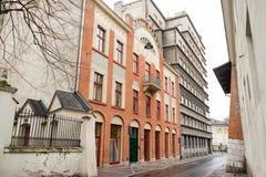 Buildings in Krakow city center, Poland Royalty Free Stock Photos