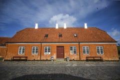 Buildings of Kronborg castle in Denmark, a red brick building. Buildings of Kronborg castle in Denmark, a red brick building royalty free stock image