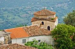 Buildings in Kruje, Albania Royalty Free Stock Image