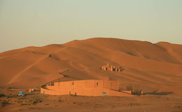 Buildings in Kumutage Desert. Xinjiang, China Royalty Free Stock Image