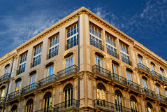 Buildings with lace fronts of city Valencia  Spain Royalty Free Stock Images