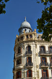 Buildings with lace fronts of city Valencia  Spain Royalty Free Stock Image