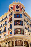 Buildings with lace fronts of city Valencia  Spain Royalty Free Stock Photos