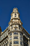 Buildings with lace fronts of city Valencia  Spain Stock Images