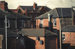 Buildings in Levenshulme Manchester England Europe. Royalty Free Stock Photo