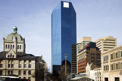 Buildings in Lexington - old and new. Royalty Free Stock Photography