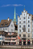 Buildings on the Limmatquai quay in Zurich Royalty Free Stock Photos