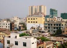 Buildings located at downtown in Mandalay, Myanmar Stock Image
