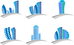 Buildings logo Stock Photography