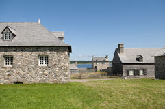 Buildings in Louisbourg Royalty Free Stock Photo
