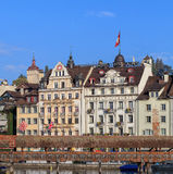 Buildings in Lucerne old town Royalty Free Stock Photos