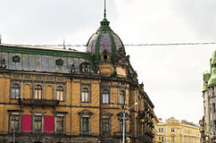 Buildings in Lviv downtown Royalty Free Stock Image