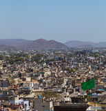 Buildings and Machla Hills in Udaipur Stock Photos