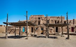 Adobe Buildings with Shade Structures. Royalty Free Stock Photography