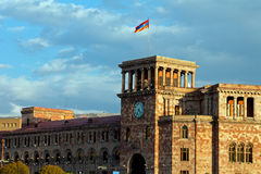 Buildings on a main square of Yerevan Royalty Free Stock Image