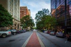 Buildings on Main Street in Columbia, South Carolina. Royalty Free Stock Photos