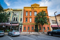 Buildings on Main Street in Columbia, South Carolina. Stock Photography
