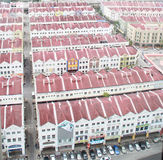 Buildings in Malacca. Similar looking houses in Malacca, Malaysia Royalty Free Stock Image