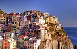 Buildings at Manarola Royalty Free Stock Photo