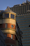 Buildings in Manchester City, England, Europe. Close-up. Stock Image