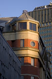 Buildings in Manchester City, England, Europe. Close-up. Royalty Free Stock Image