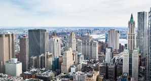 The buildings of Manhattan Stock Photo
