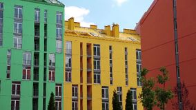 Buildings with many-coloured facades Royalty Free Stock Image