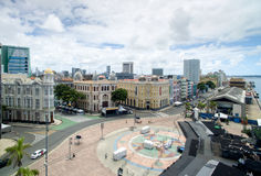 Buildings in Marco Zero in Recife, Pernambuco State, Brazil Royalty Free Stock Photography