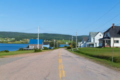 Buildings in Margaree Habour Nova Scotia Stock Images