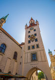 Buildings in Marienplatz Royalty Free Stock Photo