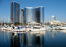 Buildings And Marina Stock Photos