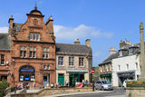 Buildings in Market Square, Melrose, Scotland Royalty Free Stock Image