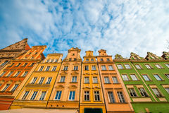 Buildings on the market square in Wroclaw Stock Photography