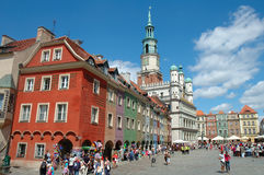 Buildings on marketplace in Poznan Stock Photo