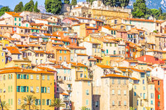 Buildings in Menton, South of France Royalty Free Stock Photos