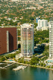 Miami city apartments Royalty Free Stock Images