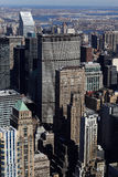 Buildings in midtown Manhattan Royalty Free Stock Photos