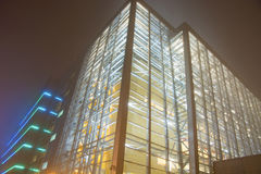 Buildings in Misty nights Royalty Free Stock Photography