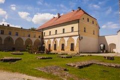 Buildings of the monastery complex of the Cistercian abbey. Kamieniec Zabkowicki, Poland - July 02, 2014: Buildings of the monastery complex of the Cistercian Royalty Free Stock Photo