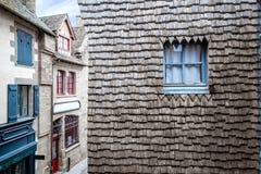Buildings on the Mont Saint Michel island Stock Image